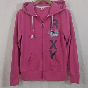 Roxy Pink Zip-Up Hoodie EUC